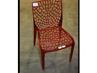 New dining chairs 2 red dining chairs modern chairs Rrp £100 each