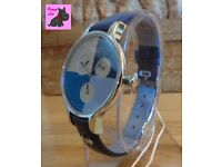 Radley RY2429 Ladies 'Abbey' Summer Fig Dark Blue Leather Strap Chronograph NEW