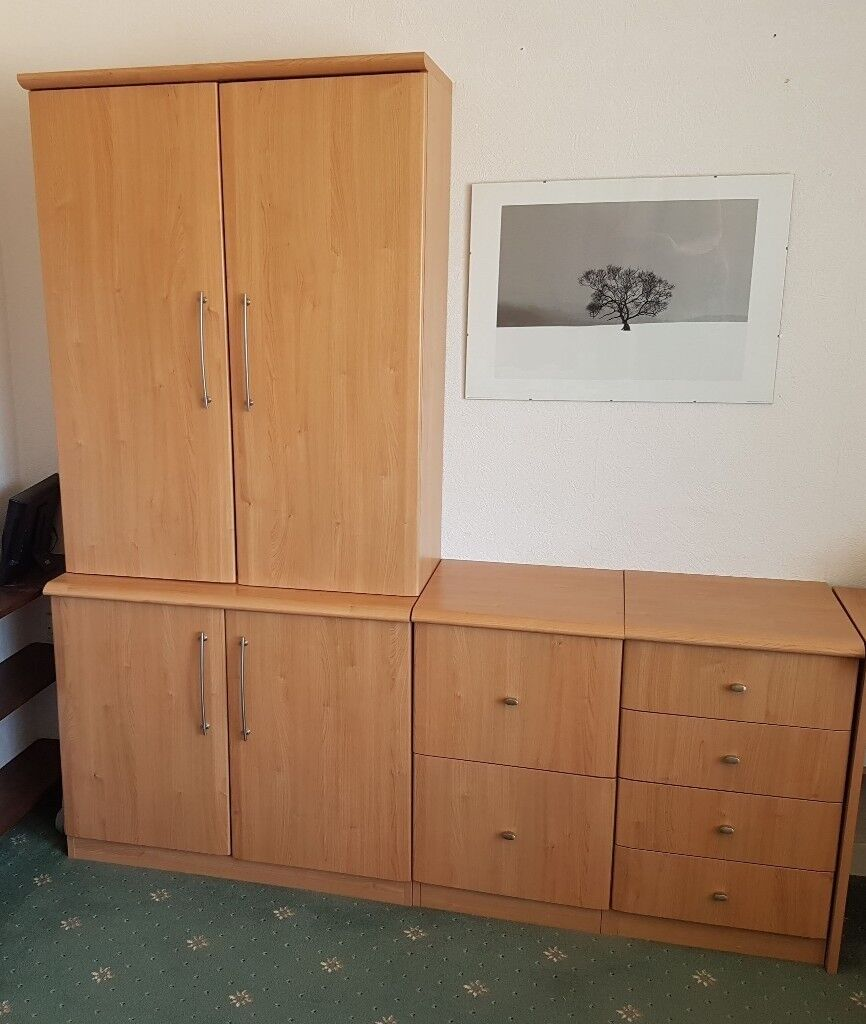 6 Pieces Incl. 2 Filing Cabinets