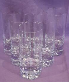 6 Highball Glasses, Beautiful Bubble Base Design (M&S)