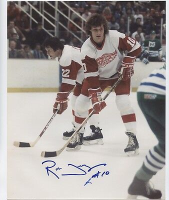 RON DUGUAY DETROIT RED WINGS SIGNED 8x10 PHOTO w/ COA