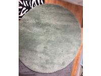 Round green ikea rug
