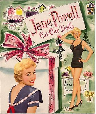 VINTGE UNCUT 1953 EVE ARDEN PAPER DOLL DOUBLE BOOK HD REPRODUCTION~LO~PR