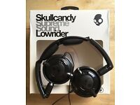 SKULLCANDY LOWRIDER FOLDING HEADPHONES - WITH MICROPHONE - GUN METAL BLACK