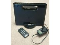 Sony RDP Compact Docking Station Speaker for iPod/iPhone Black With Remote