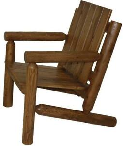 Amish Mennonites Made Local White Cedar Log Patio Chairs