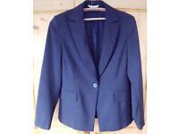 Black/sparkly pin stripe formal fully lined ladies' jacket 'George'. Size 10. £5 ovno.