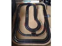 Scalextric Digital Layout with Pit Lane & Game / Long Single Lane / 2 Lane Changers & 4 Cars