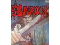 Saxon LP signed by the band