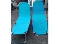 Blue Garden lounge chairs