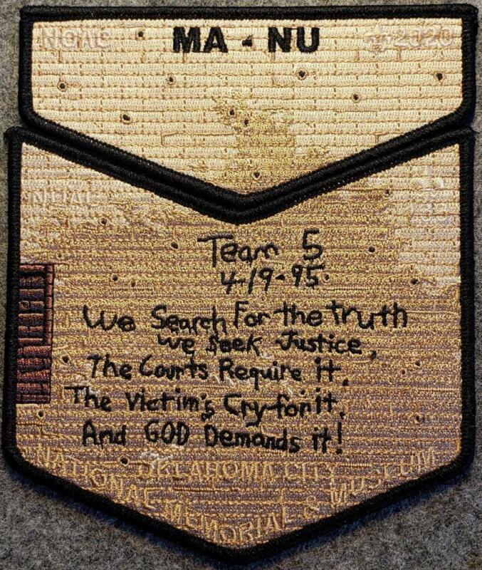 NOAC 2020 Ma-Nu Lodge 133 Delegate OKC Natl. Memorial Last Frontier Council OA