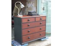 Large Refurbished Victorian Chest of Drawers