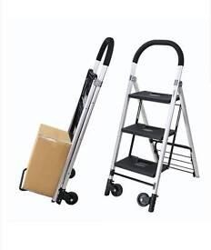 2 in 1 folding steps ladders / trolly