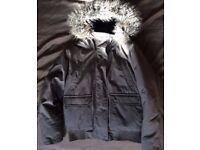 BN EXTREMELY WARM Waterproof Insulated Padded Winter Parka Coat With Faux Fur Hood (Like Superdry)