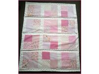 New handmade baby girl patchwork quilt