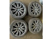 Genuine 18 inch bmw m sport multi spoke alloy wheels staggered 5112 G20 3series alloys