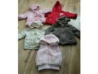Girls winter coats 9-12 months to 2-3 years