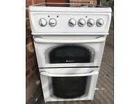 WHITE HOTPOINT 50CM ELECTRIC COOKER EXCELLENT CONDITION, 4 MONTH WARRANTY