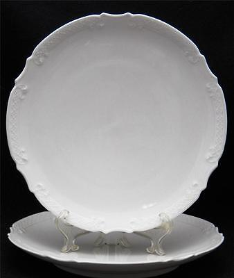 "Lot of 2 Vintage / Antique Luncheon or Dinner Plates 8 3/4"" Limoges France WHITE on Rummage"