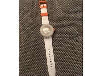 SWATCH WATCH - SCUBA - ORANGE & WHITE