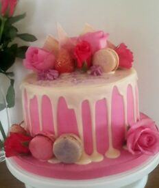 Celebration Cakes, baby shower, birthday, christening, anniversary, sugar flowers, wedding