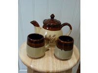 teapot & 2 matching cups selling v cheap £5 & also coffee pot & matching sugar bowl £5 or all for £8
