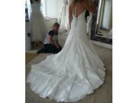 Beautiful Ivory wedding dress with tail