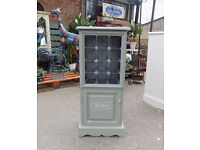 Painted Pine Wine Rack With Cupboard