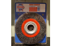 Faithfull 150 x 23 x 32mm Wire Wheel with 0.3mm Wire - New