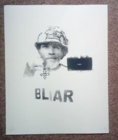 BLiar-anti-Iraq War print-2008 limited edition print-no 5 of 25-signed by the artist. Unframed