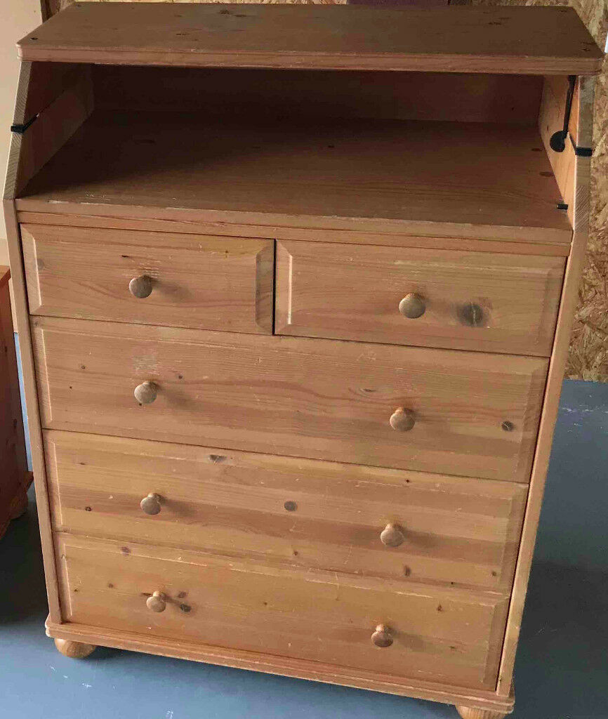 Brilliant Ikea Narvik Solid Pine Chest Of Drawers With Integrated Baby Changing Table Used In Norwich Norfolk Gumtree Download Free Architecture Designs Intelgarnamadebymaigaardcom