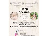 A Beautiful Voice and a Harp: The Charity concert of Classical & Sacred music