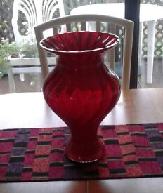 Royal Doulton ruby glass vase