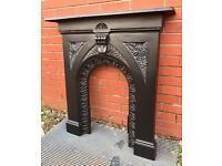 Vintage cast iron fire surround