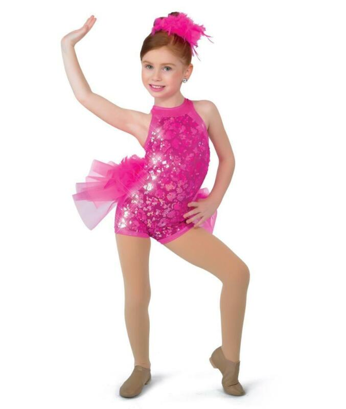 Dance Costume Small or Int Child Pink Sequin Jazz Tap DUET A Wish Come True