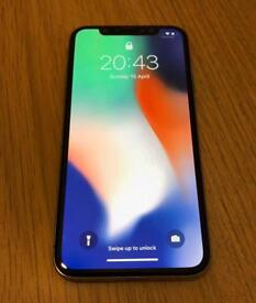 Apple iPhone X 256GB (Factory Unlocked) Silver/White