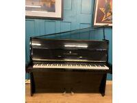 Steinway model Z|| Black upright Piano| Black polyester case 1965 |Belfast Pianos| Belfast|