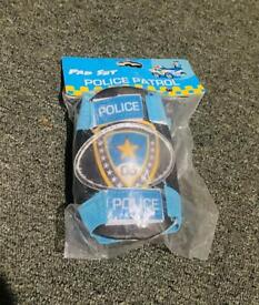 Brand new in pack police knew pads 3-6 years