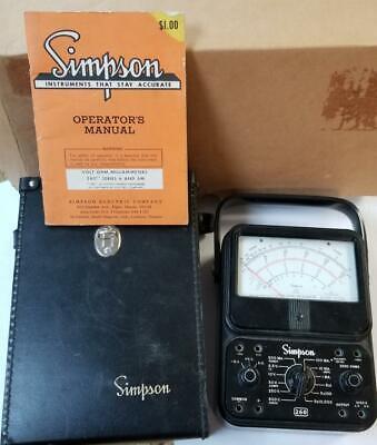 Simpson 260 Series 6 Vom Manual