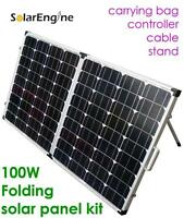 New 100W folding solar panel kit camping RV