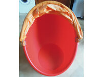 Ikea Egg Chair Classic Red and Yellow