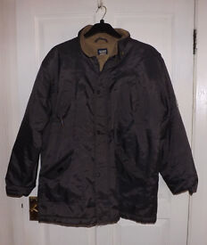 Men's Outside Jacket - Activewear - Size L Brown with Brown Linining