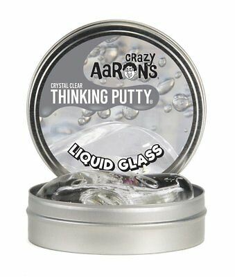 Crazy Aarons Thinking Liquid Glass Crystal Clear Putty Large Silly Puddy Kids