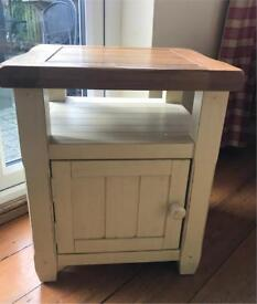 Oak Shabby Chic Bedside Tables x 2