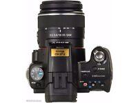 Sony Alpha A55 DSLR camera with lens
