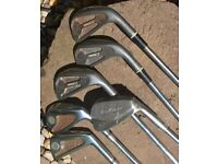 BARGAIN REDUCED PRICE _ 6 x Vintage Golf Clubs _ (2 x Wilson 1200LT 3 x Pinnacle and 1 x Marksman)