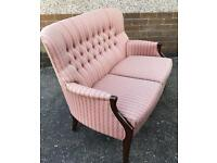 Two Seater High Backed Parker Knoll Settee