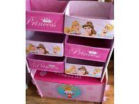 Toy box and storage toy drawers Disney princess