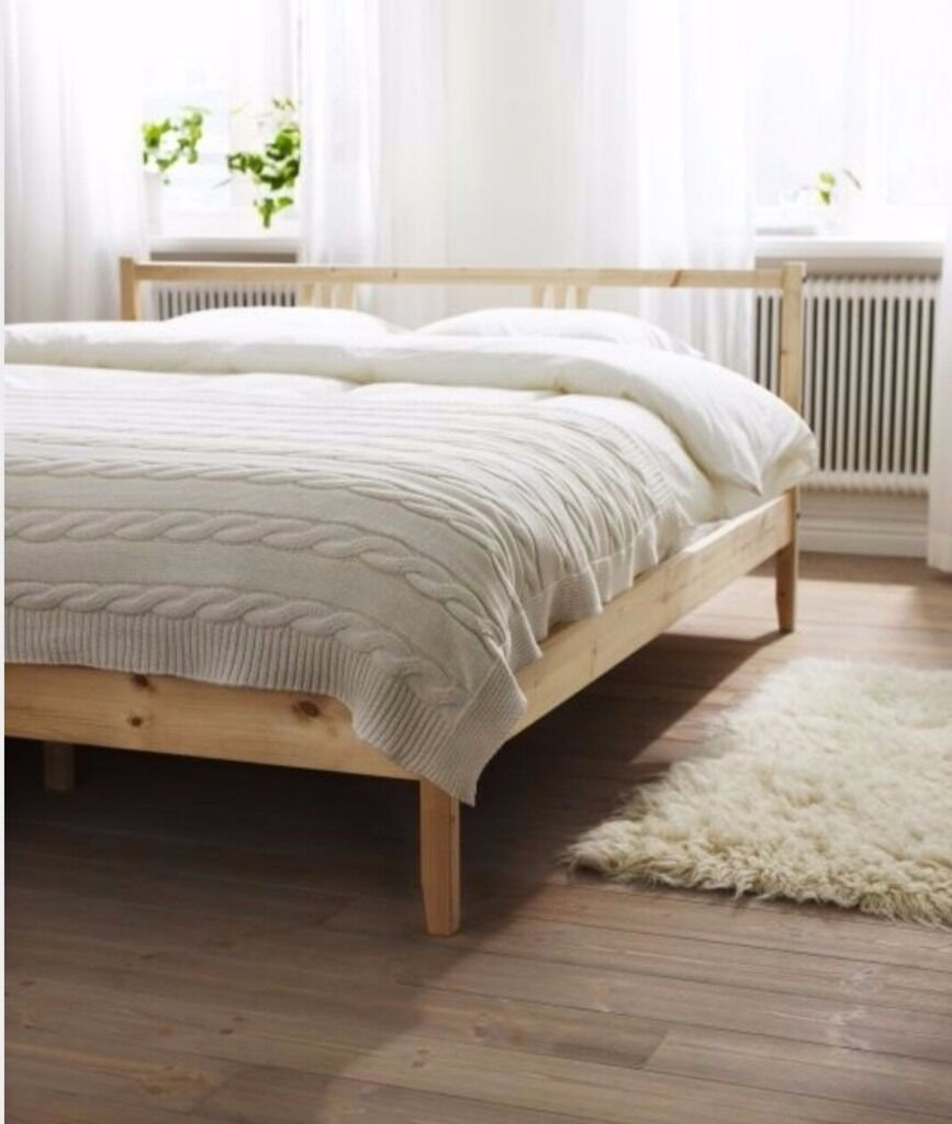 Ikea Fjellse Double Bed Frame In Very Good Condition Without Headboard