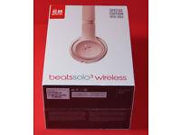 GENUINE solo 3 Beats by Dr. Dre Solo3 Wireless Headband Headphones Rose Gold BNIB